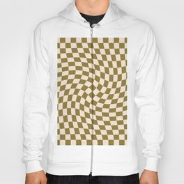 Check VI - Green Twist — Checkerboard Print Hoody