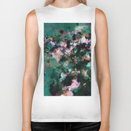 Contemporary Abstract Wall Art in Green / Teal Color Biker Tank
