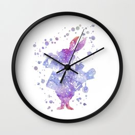 White Rabbit Alice in Wonderland Wall Clock