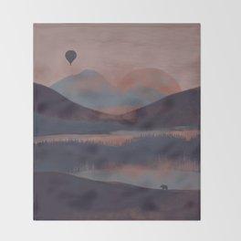 Adrift in the Mountains... Throw Blanket