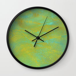 Gelatin Monoprint 24 Wall Clock