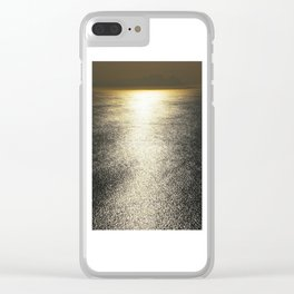 Golden Silence Clear iPhone Case