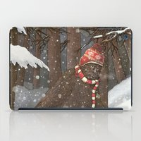 sasquatch iPad Cases featuring Everyone Gets Cold by Terry Fan