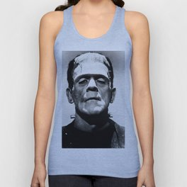 Frankenstein 1933 classic icon image, flawless, timeless horror movie classic Unisex Tank Top
