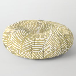 Tropical Gold Floor Pillow