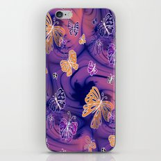 Flutterby Butterfly in purple and orange! iPhone & iPod Skin