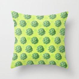 Artichoke pattern Throw Pillow