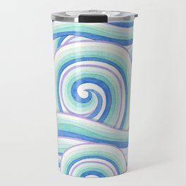 Blue Swirls Travel Mug