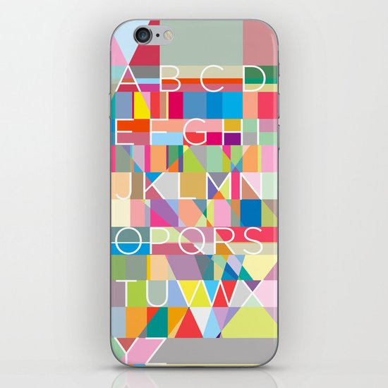 Letters3 iPhone & iPod Skin