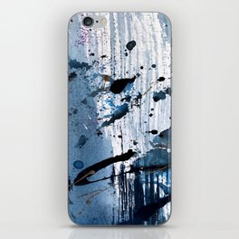 Breathe [6]: colorful abstract in black, blue, purple, gold and white iPhone Skin