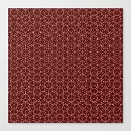 Tessellation - Culture Clash - Monotone Burgundy Canvas Print