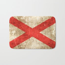Vintage Aged and Scratched Alabama Flag Bath Mat