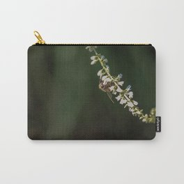 Memories of Spring-A single bee on flowers Carry-All Pouch