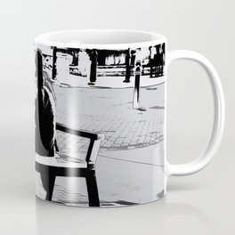 Busking for His Ticket Home  - Guitar Player Coffee Mug