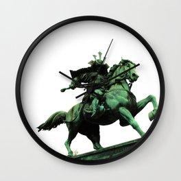 Japanese Warrior on Horse Wall Clock
