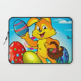 Easter bunny rabbit with Easter basket Laptop Sleeve