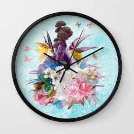 FLORAL HORNBILL / RIO Wall Clock