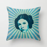 leia Throw Pillows featuring Leia by Durro