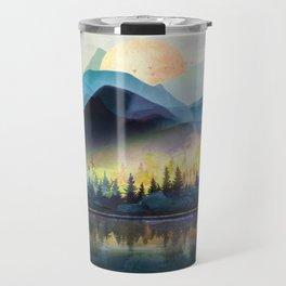 Mountain Lake Under Sunrise Travel Mug