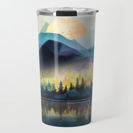 Mountain Lake Under Sunrise Travel Mug
