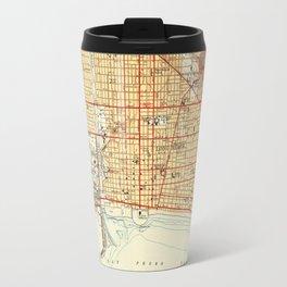 Vintage Map of Long Beach California (1949) Travel Mug
