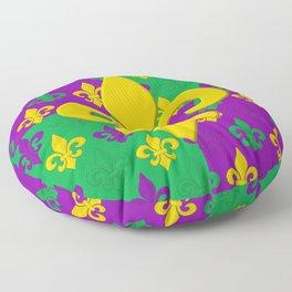 Mardi Gras Fleur-de-Lis Pattern Floor Pillow