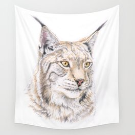 Lynx - Colored Pencil Wall Tapestry