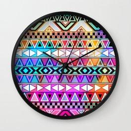 Tribal Pattern 08 Wall Clock
