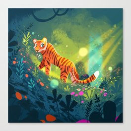 Tiger in the Garden of Kings Canvas Print