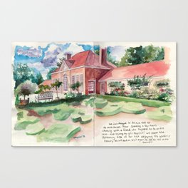 Mount Vernon's gardens Canvas Print