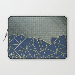 Ab Lines 45 Navy and Gold Laptop Sleeve