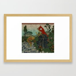 Haunt for Little Blind Fish Framed Art Print