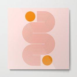 Abstraction_NEW_SUN_CONNECT_LINE_POP_ART_Minimalism_014AA Metal Print