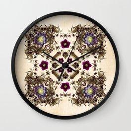 Hellebore and Nightshade Mandala Pattern Wall Clock