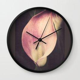 Calla Lily Blush Wall Clock