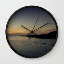 Kimmeridge Bay Sunset #1 Wall Clock