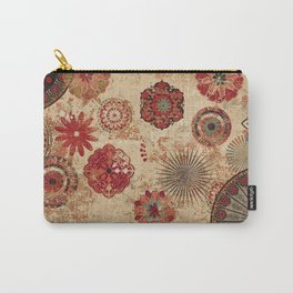 Bohemian Floral Moroccan Style Design Carry-All Pouch