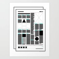 Geometric - Indesign Grid . (Spanish) Art Print