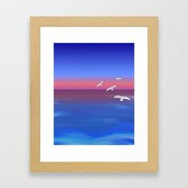 Where the ocean meets the sky Framed Art Print