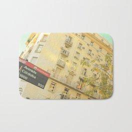 Avenida Córdoba  1000 - 9000 (Retro and Vintage Urban, architecture photography) Bath Mat