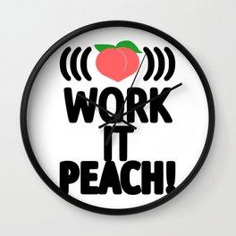 Work It Peach! Wall Clock