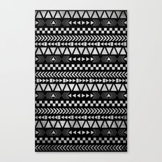 Tribal Print in Black and White Canvas Print