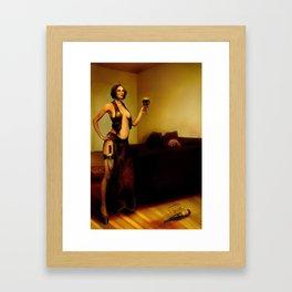 """""""The bad customer"""" Framed Art Print"""