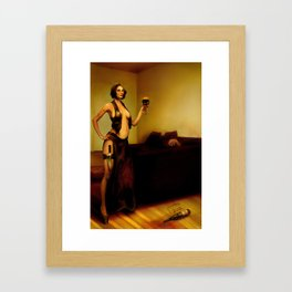 """The bad customer"" Framed Art Print"
