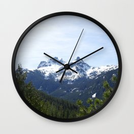 View from Whistler, North Vancouver Wall Clock