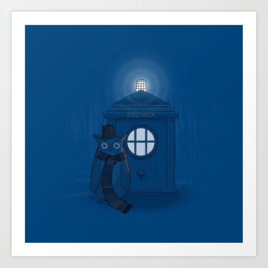 Dr Who Who? Art Print