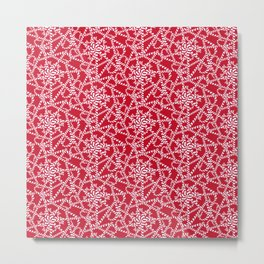 Candy cane flower pattern 2a Metal Print