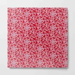 Candy cane flower pattern 2a Metal Print