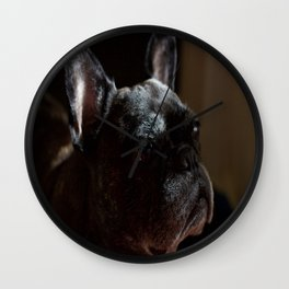 Frenchie Contemplating Life Wall Clock