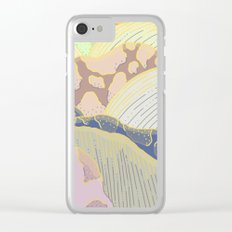 Mountains / Sunset Clear iPhone Case